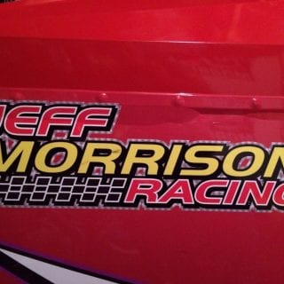Jeff Morrison Racing Logo - Deaf Racing Driver