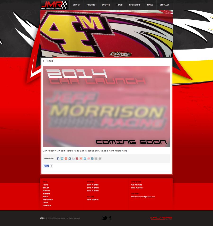 Jeff Morrison Racing - Walters Web Design ( 2014 Website Designs )