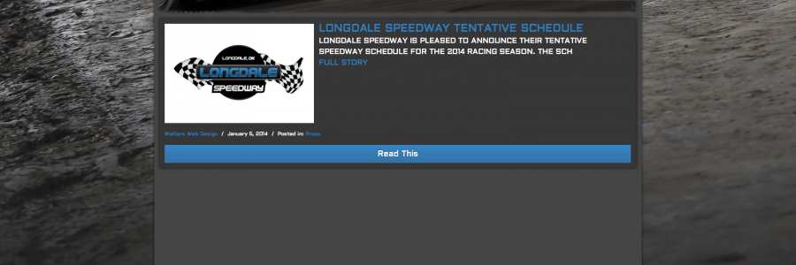 DIRT RACING: Longdale Speedway Website Launch, New Dirt Track