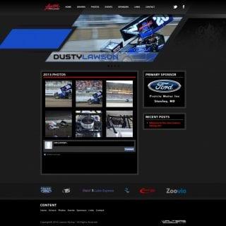 Lawson Racing - Walters Web Design 2014 Website Designs