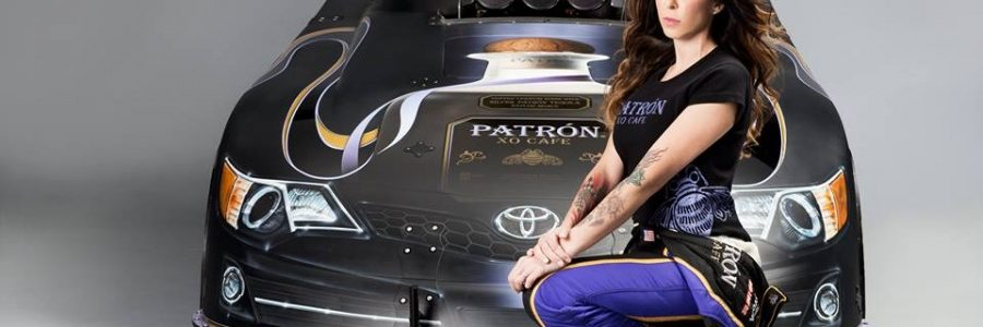 NHRA FUNNY CAR: Alexis DeJoria Patrón XO Cafe Car Photos