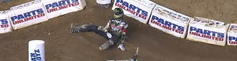 SUPERCROSS: Chad Reed Crash Breaks Bones