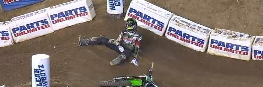 SUPERCROSS: Chad Reed Crash Breaks Bones