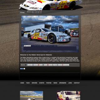 Chris Walker Motorsports - Walters Web Design ( Pro Cup Team Website )