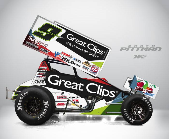 Daryn Pittman - Kasey Kahne Racing 2014 Drivers ( Sprint Car )
