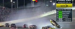 Daytona Duels Results - Clint Bowyer Flip