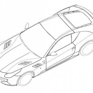 Ferrari SP FFX Drawing ( CARS )
