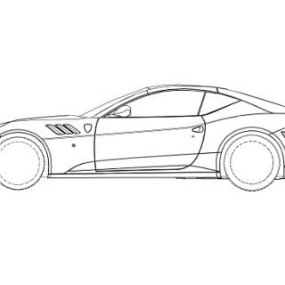 Ferrari SP FFX Sketches ( CARS )