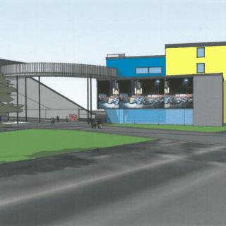 Knoxville Raceway Expansion Project Entrance