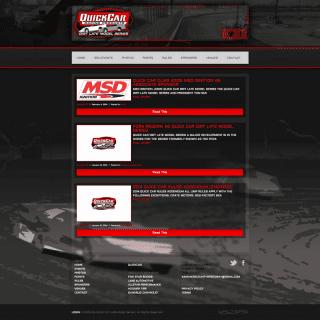 QuickCar Dirt Late Model Series Website - Walters Web Design