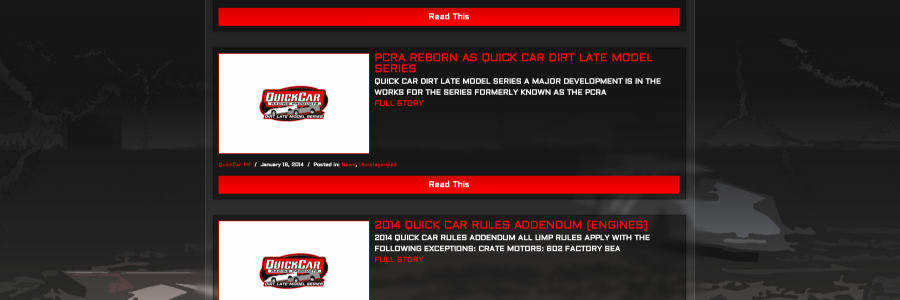 DIRT LATE MODEL: QuickCar Dirt Late Model Series Website Released