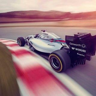 Williams Martini Racing Car Rear ( F1 )