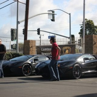 Flat Black Lamborghini Supercar Show Newport Beach ( CARS )