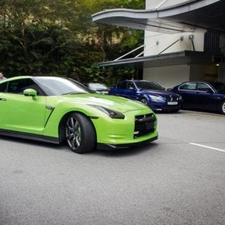 Lime Green Nissan GT-R Photo