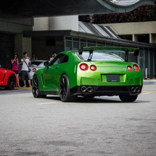 Lime Green Nissan GT-R Photos