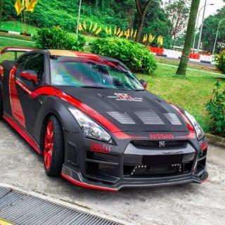 Red Black Nissan GT-R