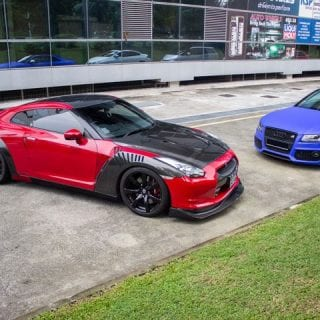 Red and Black Nissan GT-R
