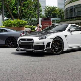 White Black Skyline Nissan GT-R