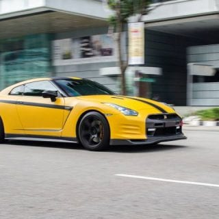 Yellow Nissan GT-R Photos