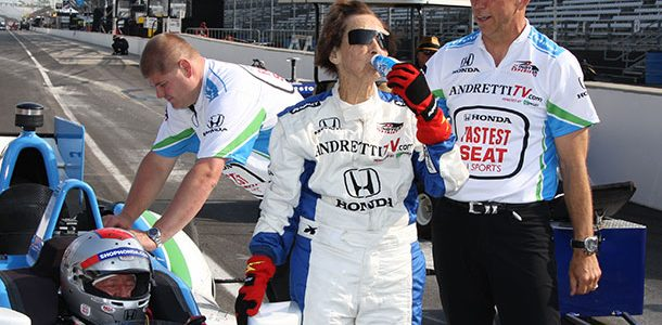 INDYCAR: 102 Year Old Woman Takes Laps At Indianapolis