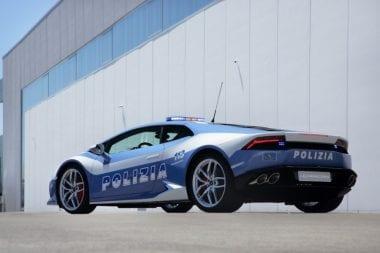 Baby Blue Lamborghini Police Car Huracn LP 610-4 Polizia Car