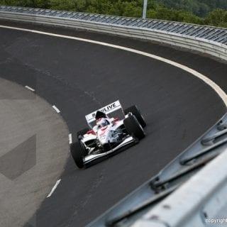 F1 Car On An Oval ( Jos Verstappen )