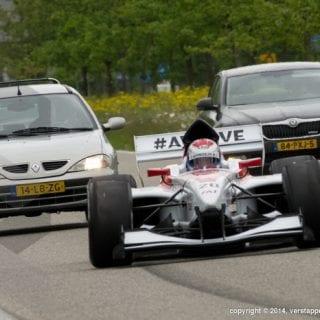 F1 Car On Highway ( Driver Jos Verstappen )