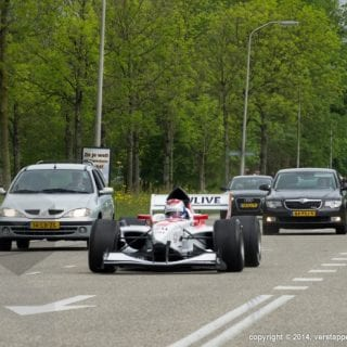 F1 Car On Highway YouTube ( Jos Verstappen )