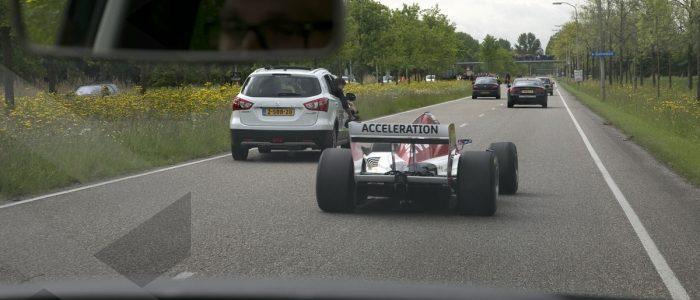 F1: Jos Verstappen Drives F1 Car On Highway