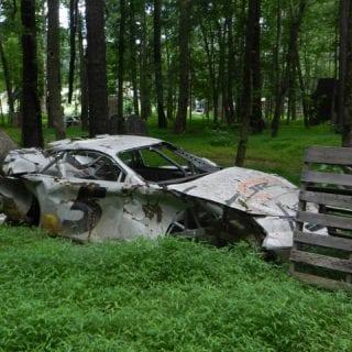 Dale Earnhardt Jr Race Car Grave yard
