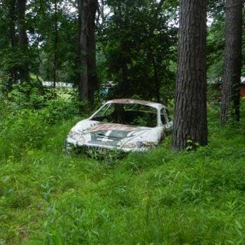 Dale Jr Race Car Grave yard