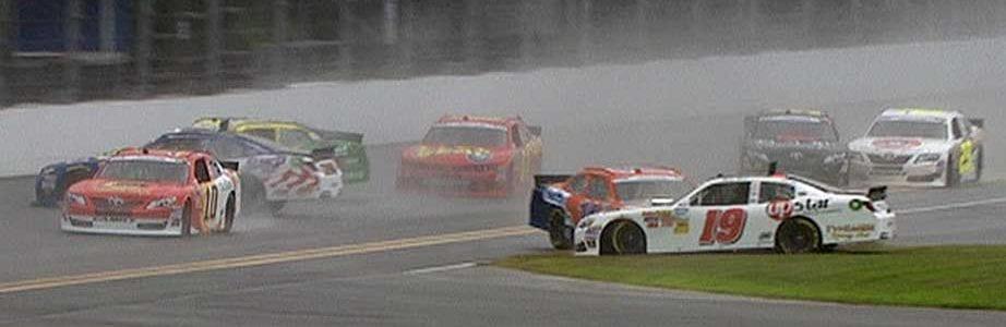 Daytona Rain Causes Surprise NASCAR Pileup
