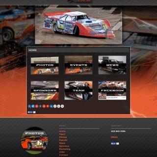 Travis Dickes Lucas Oil Driver Website Design - Walters Web Design