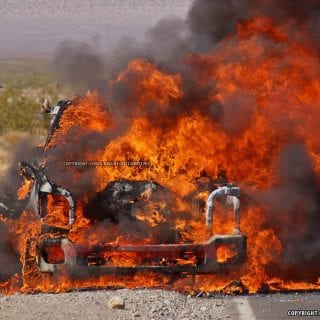 2016 Ford Super Duty Explodes In Death Valley 16-1