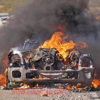 2016 Ford Super Duty Fire In Death Valley