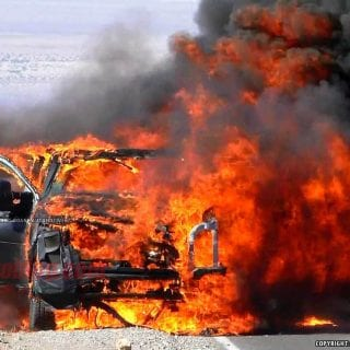 2016 Ford Truck Explodes In Death Valley 13-1