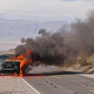 2016 Ford Truck Explodes In Death Valley 9-1
