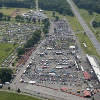 American Muscle Car Show 2014 Aerial Photo