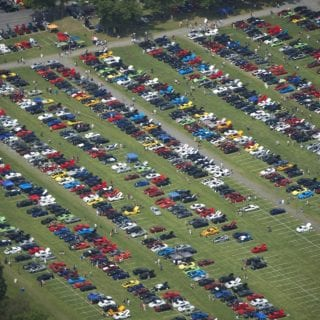 American Muscle Car Show 2014 Overhead Photo