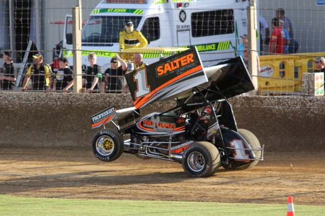 Sammy Swindell Retiring From Racing Sprint Car Wheelie Photo
