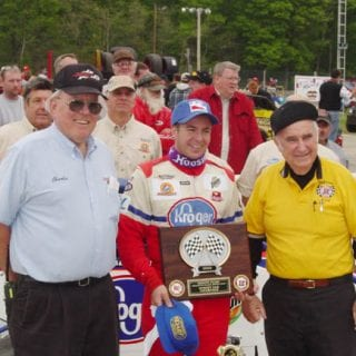 Winchester Speedway Owner Charlie Shaw with Earl Baltes