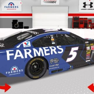 Kasey Kahne 2015 Paint Scheme 2015 Car Rear NASCAR