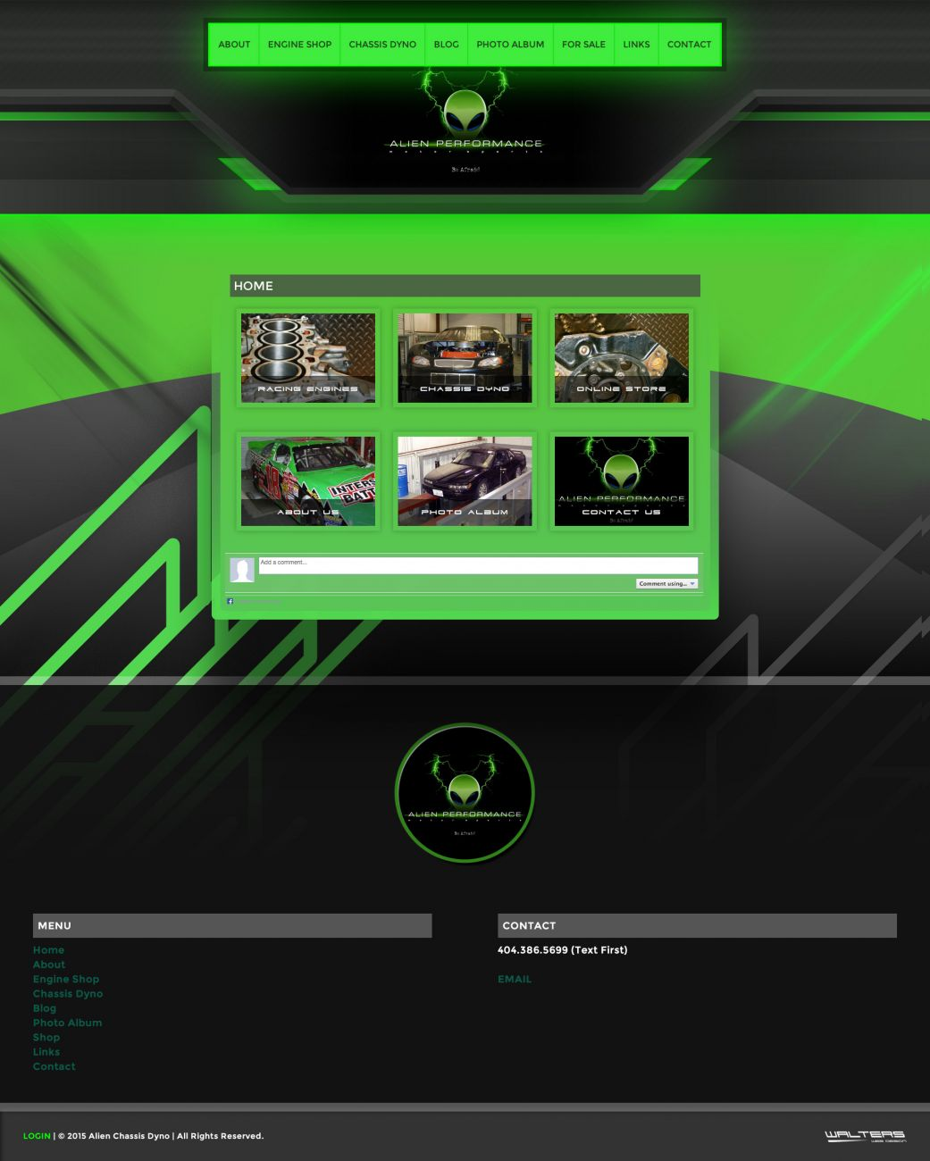 Alien Chassis Dyno Website - Walters Web Design
