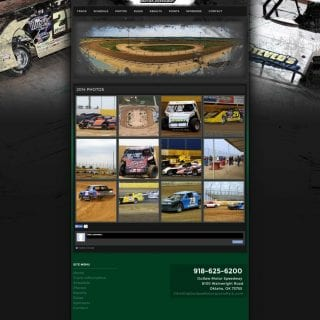 Outlaw Motor Speedway Dirt Racing Website Design - Walters Web Design