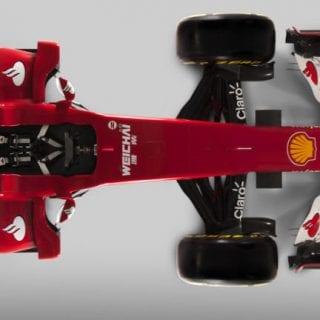 Scuderia Ferrari F1 2015 Car SF15-T Top View Photos