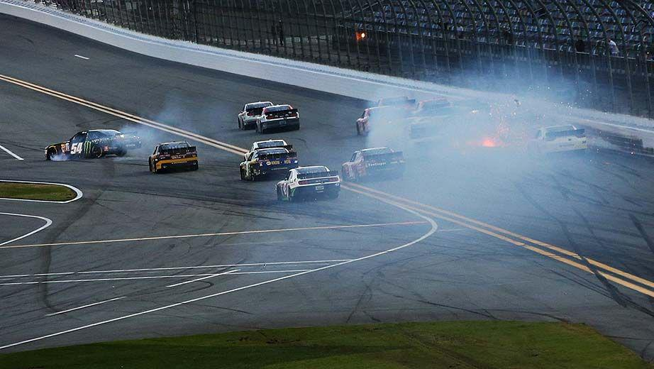 Kyle Busch Daytona Crash Photo NASCAR Xfinity Series