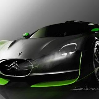 Green Citroen Survolt Photos