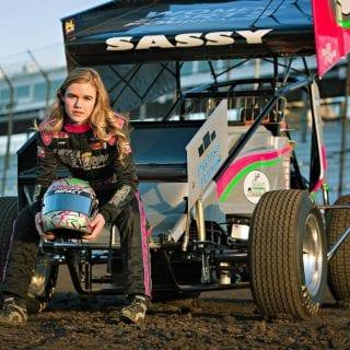 McKenna Haase Girl Sprint Car Driver Knoxville Raceway