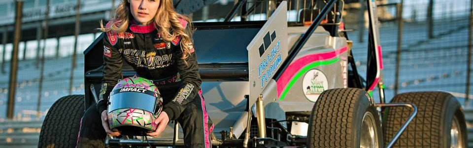 McKenna Haase First Female Sprint Car Driver Win At Knoxville Raceway