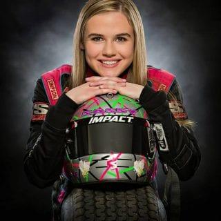 McKenna Haase Portrait Photo Female Sprint Car Driver Knoxville Raceway